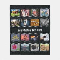 YOUR PHOTOS custom template fleece blanket