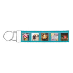 Your Photos Custom Template Wrist Key Chain at Zazzle