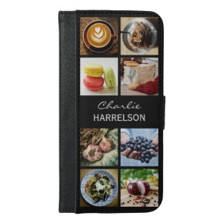YOUR PHOTOS / Foodie custom name phone wallets