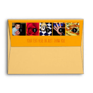 Your Photos Images Your Greeting Text Sun Yellow Envelope