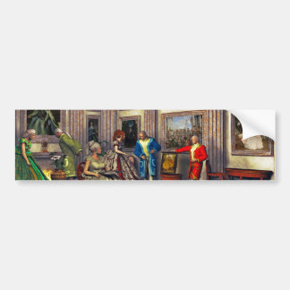 Your photos in a historical art gallery bumper sticker