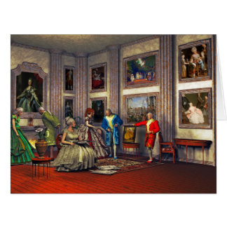 Your photos in a historical art gallery large greeting card