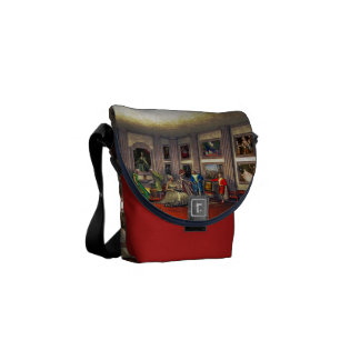 Your photos in a historical art gallery courier bag
