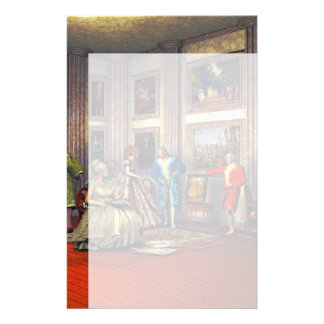 Your photos in a historical art gallery stationery