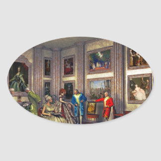 Your photos in a historical art gallery sticker
