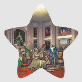 Your photos in a historical art gallery star sticker