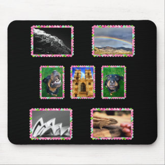 Your Photos in Floral Picture Frames Mouse Pad