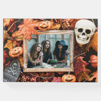 YOUR PHOTOS in Halloween Frame custom guest book