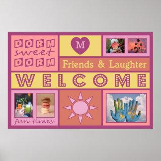 YOUR PHOTOS & MONOGRAM custom dorm room poster