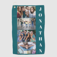 YOUR photos, name & color golf towel