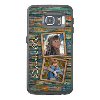 Your Photos On Rustic Wooden Planks Pattern OtterBox Samsung Galaxy S6 Edge Case