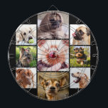 """YOUR PHOTOS or cute dogs custom dart board<br><div class=""""desc"""">See my store for more custom photo items.</div>"""