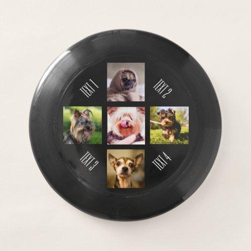 YOUR PHOTOS or cute dogs custom text frisbee