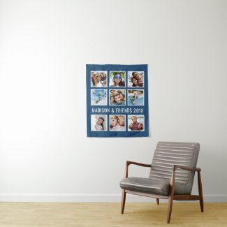 YOUR PHOTOS, TEXT & COLOR custom tapestry