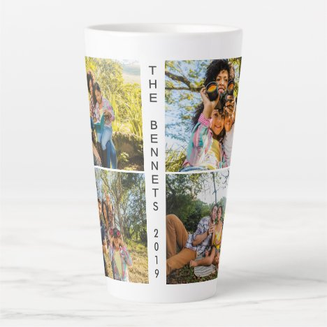 YOUR photos & text custom latte mug
