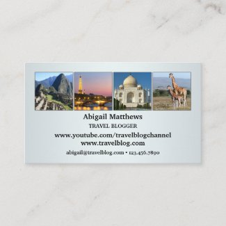 Your Photos Travel Agent or Blogger Business Card