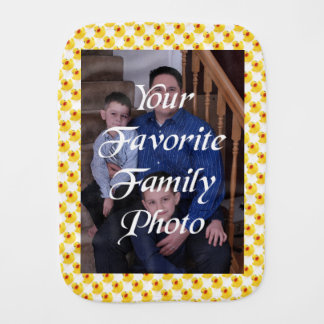 Your Pic with Little Rubber Ducks Burp Cloth