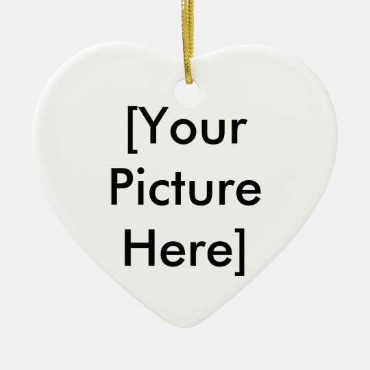[Your Picture Here] Ceramic Ornament