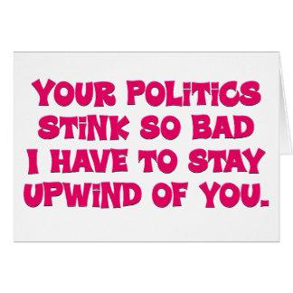 Your politics stink card