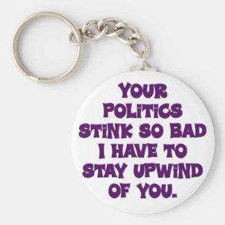 Your politics stink keychains
