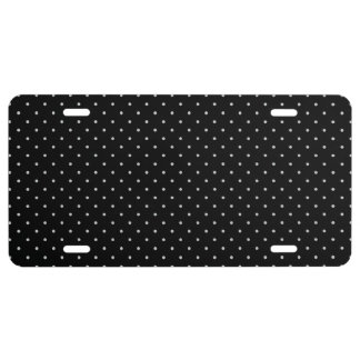 Your Polka Dots Color on Black Click Customize License Plate