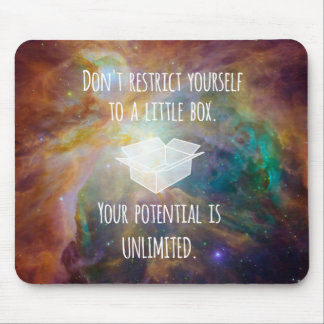 Your Potential is Unlimited Quote Universe Nebula Mouse Pad