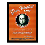Your President Says Postcard