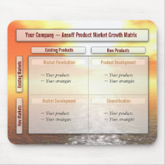 Your Product Market Growth Ansoff Matrix Mousepad at Zazzle