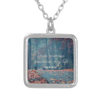 Your Promise Square Pendant Necklace
