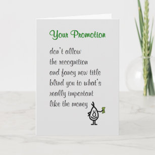 Funny promotional cards greeting photo cards zazzle your promotion a funny congratulations poem card m4hsunfo
