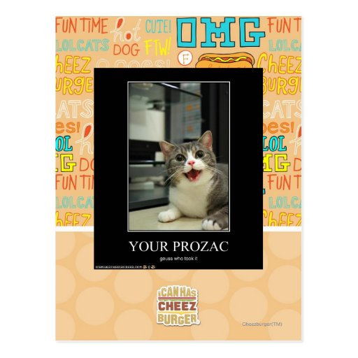 Your Prozac Post Card