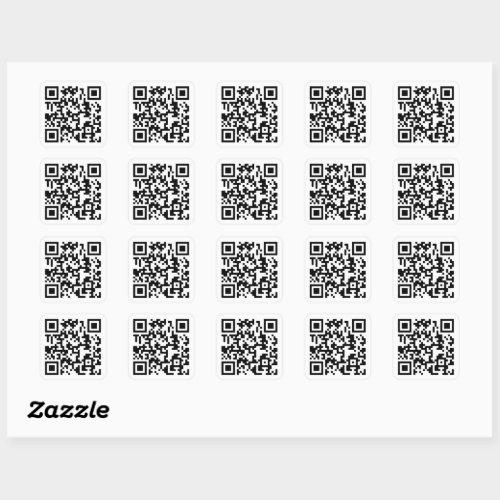 Your QR Code Plus Business Details Square Sticker