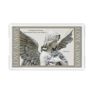 Your Quote Angel Blessing Love Acrylic Tray
