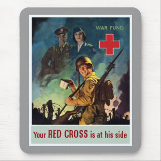 Your Red Cross Is At His Side Mouse Pad