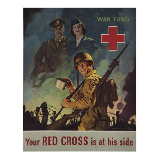 Your Red Cross Is At His Side Poster