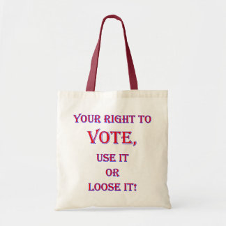 Your Right To Vote Canvas Bags