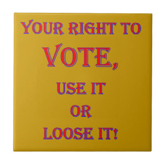 Your Right To Vote Tile