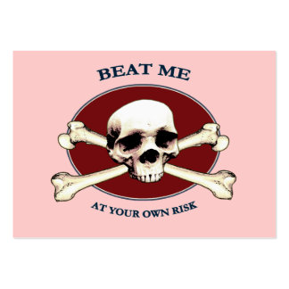 Your Risk Pirate Skull Business Card
