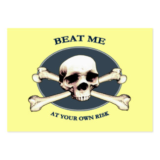 Your Risk Pirate Skull Business Card Template