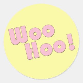 Your Rock! WooHoo! Classic Round Sticker