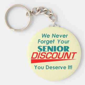 YOUR Senior Discount Keychain