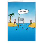 Your Serve Shark Volleyball Blank Inside Card Greeting Card
