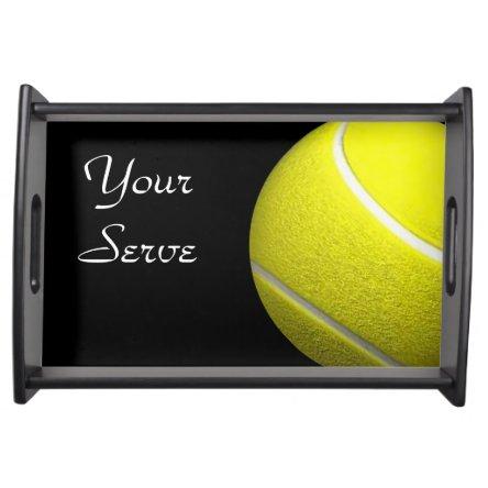 Your Serve Tennis Ball Sport Design Serving Tray