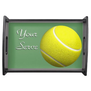 Your Serve Tennis Sport Design Serving Tray