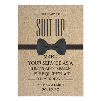 Your Service as a Groomsman Card