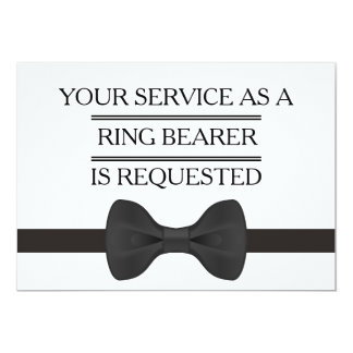 Your Service as a Groomsman  Ring Bearer Request Card