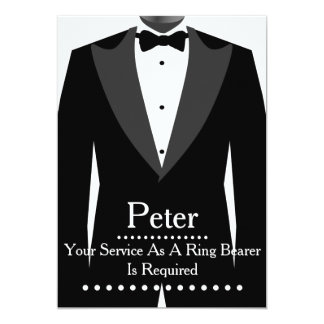 Your service as a Ring Bearer Groomsman 5x7 Paper Invitation Card