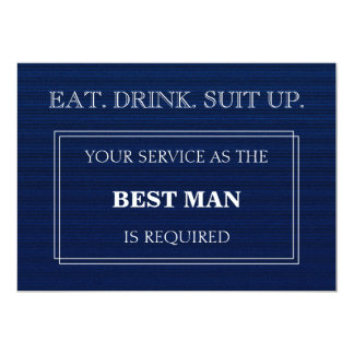 Your Service As The Best Man Is Required Blue Card