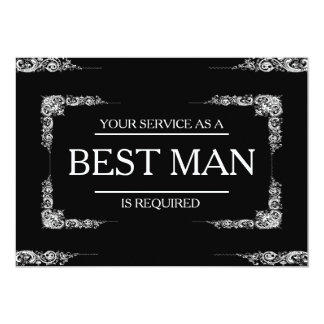 Your Service Is Requested as Best Man Groomsman Invitation