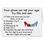 Your shoes can tell your age Birthday Card